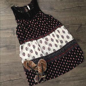 Xhilaration black aztec theme dress ~ Size XL